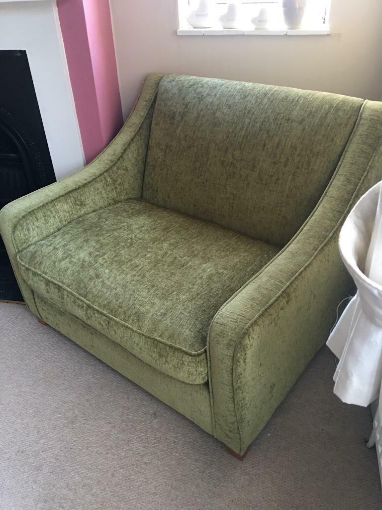 Cosy Green Arm Chair