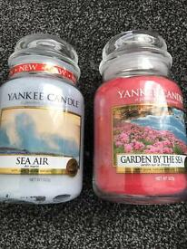 2 Yankee large candle BNWT new fragrance