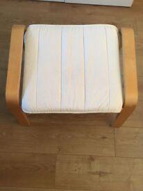 Ikea poang fabric footstool