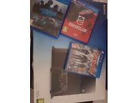 Selling 500gb ps4 boxed 3 games £150