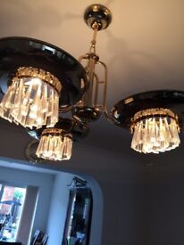 24 carat gold plated chandeliers