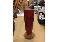Red Tall Vase