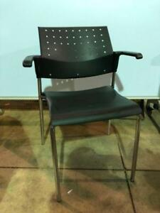Global Sonic Guest Chairs with Arms - $49