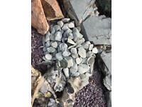 Small grey rockery stones