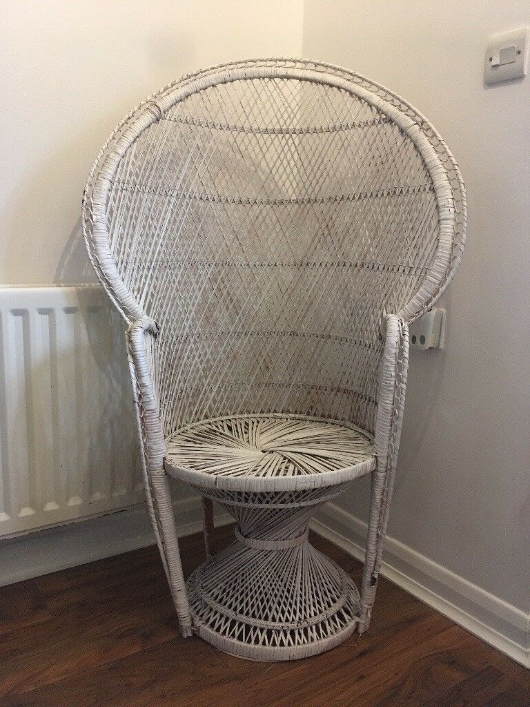 Wicker Cane Peacock Chair Chic Bohemian Boho In Bath Somerset Gumtree