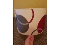 Light shade - red, grey & cream- w40cm x l25cm
