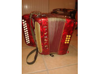 V Soprani vintage accordion.