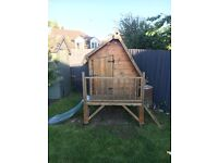 High quality children's playhouse with slide