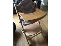 Beech High Chair