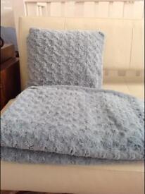 Fur throw and cushion