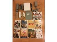 NINTENDO Wii console, boxed plus 10 games bundle -£39