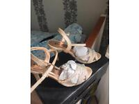 Nude colour sandals with diamontes