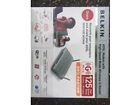 Belkin ADSL 2 Modem with high-speed Mode Wireless Router Boxed Unused