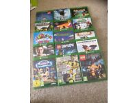 X-Box One with Kinect and 2 Controllers, 15 games, 19 Skylander figures, 32 Disney Infinity figures