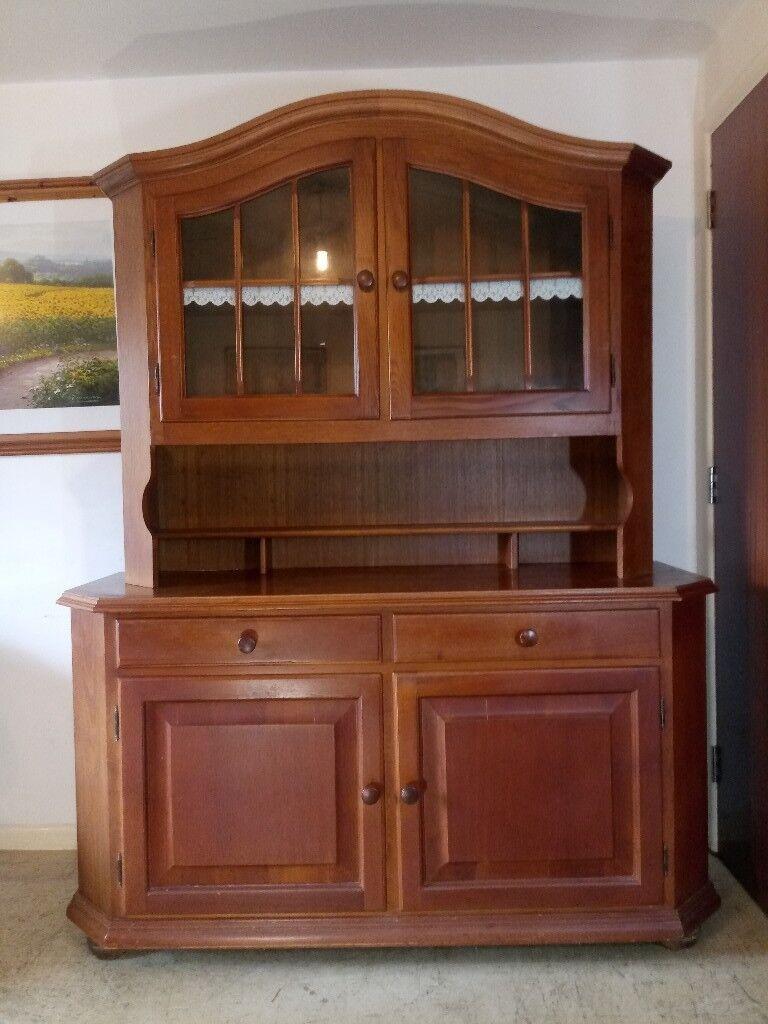 Large Solid Oak Farmhouse Welsh Dresser Display Cabinet Sideboard Can Deliver