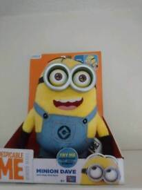 Minion talking light up minion dave soft toy