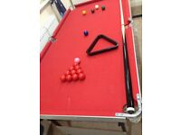 5ft Pool and Snooker Table
