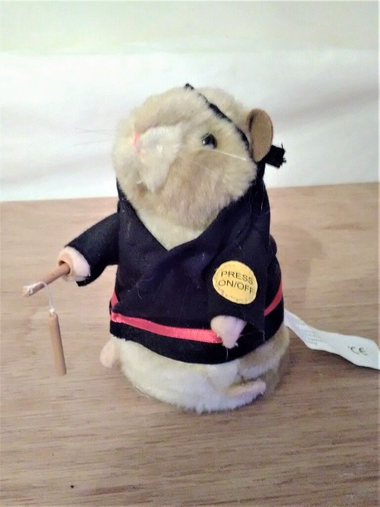 Gemmy Kung Fu Fighting Dancing Hamster Collectible Working