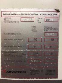 Akvaterm 2500 Litre Accumulator Tank (2 coils)