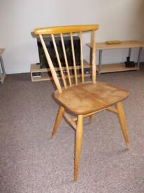 1980 Ercol Swept Back Dining Chair model 737