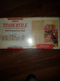 Real Pine Parquet floor panels NEVER used