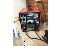 Weldstar 190amp fan assisted arc welder