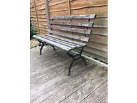 Victorian Cast Iron Garden Bench - WR