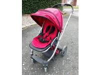 Oyster pushchair red
