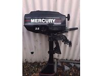 MERCURY 2.5 HP OUTBOARD ENGINE. EXCELLENT CONDITION .