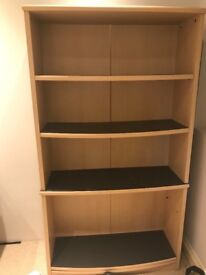 Maple coloured bookcase