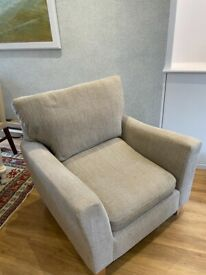 Large beige armchair for sale
