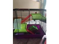 FOR SALE: Townhouse hamster cage.