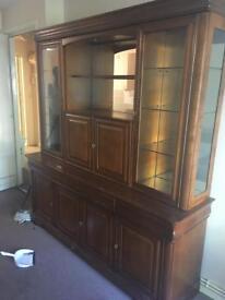 Beautiful display unit, drink unit, wall unit, cupboard, dresser.
