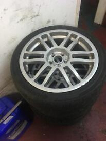 """17"""" alloy wheels & tyres 5x100 et40"""