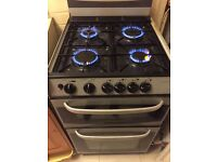 Gas Hob and cooker (grey and black)