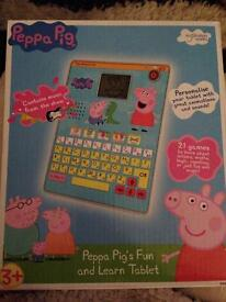 Peppa pig fun and learn tablet