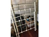 Mattress man cream metal single bed frame