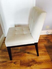 Cream upholstered chair