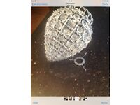 Clear Beaded Ceiling Light Shade