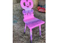 RARE! Graffiti ombré pink dripp swanz chair 1off