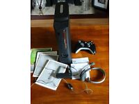 Xbox 360 with controller, headset, network adapter & 25 games