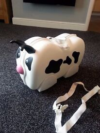 childs cow trunki with strap