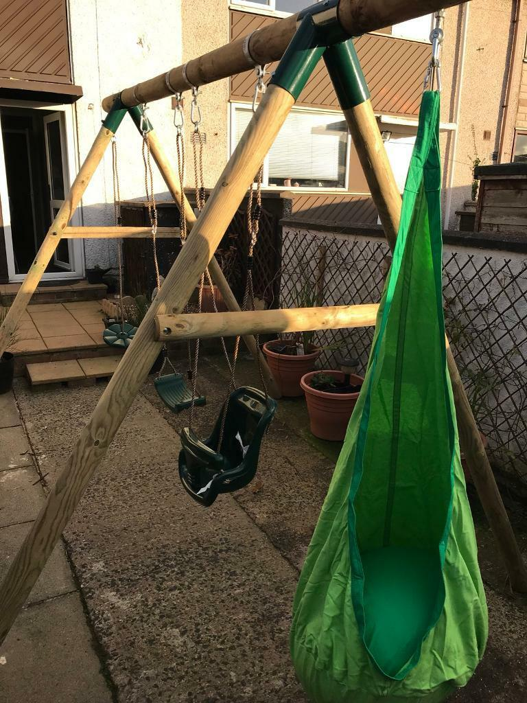 Brand new wooden swing set