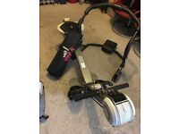 Tight rowing machine - hardly used with free sit-up machine & exercise mat