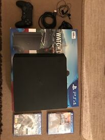 BRAND NEW PS4 with BATTLEFIELD ONE AND WATCHDOGS