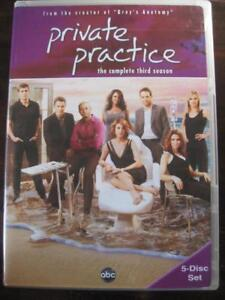 Private Practice. The Complete Third Season. DVD. From the Creator of GREYs Anatomy. Starring Taye Diggs, Amy Brenneman