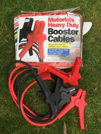 Car battery booster cables