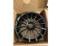 Mercedes 4x AMG alloy wheels gloss black 20inch (genuine)