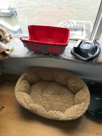Dog Bed and Puppy Carrier