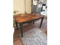 Solid Oak Farmhouse Dining Table